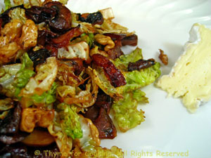 Savoy Cabbage, Walnuts and Mushrooms