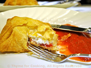 Chevre en Croute with Tomato Sauce