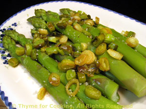 Asparagus with Olive Oil and Green Garlic
