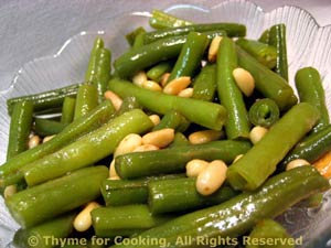 Green Beans with Butter and Pine Nuts