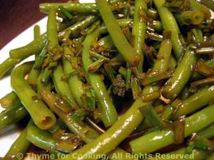 Green Beans with Lemon and Soy Sauce