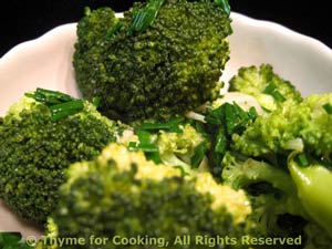 Broccoli with Butter and Fresh Herbs