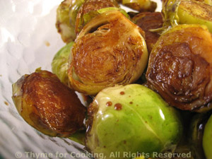 Balsamic Soy Brussels Sprouts