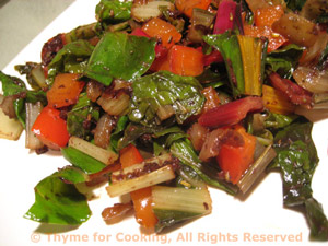 Sautéed Chard with Red Pepper