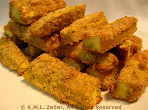 Baked Zucchini (Courgette) Sticks