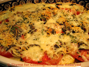 Zucchini (Courgette) and Tomato Gratin