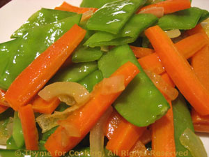 Sautéed Snow Peas (Mangetout) with Carrots