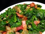 spinach bacon onion