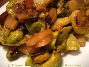 Sautéed Sliced Brussels Sprouts with Celeriac