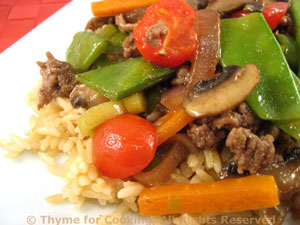 Stir-Fried Beef with Snow Peas