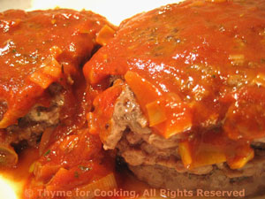 Beef Patties with Paprika Sauce