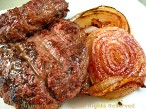 Grilled Dijon Burgers with Onions