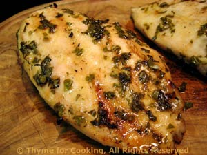 Grilled Chicken Breasts with Lemon and Fresh Herbs