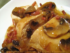 Sautéed Chicken Breasts with Bacon and Mushrooms