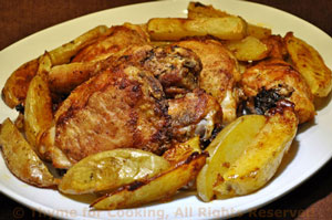 Oven Fried Chicken with Potatoes