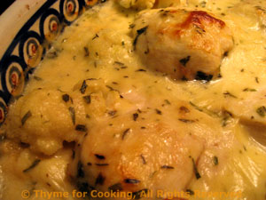 Chicken and Cauliflower Savoyarde