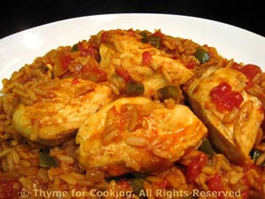 Chicken Breasts with Spanish Rice