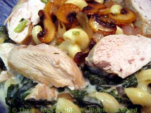 Chicken Breasts / Tarragon Mushroom Cream over Pasta