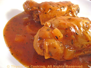 Chicken Thighs in Wine and Vinegar