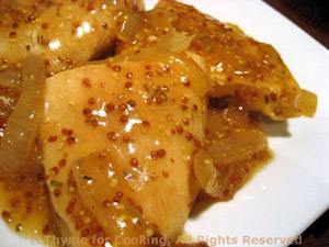 Turkey Cutlets with Mustard and Onion Pan Sauce