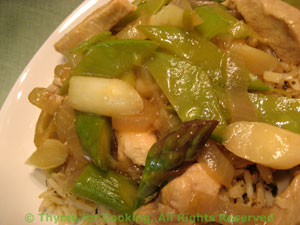 Stir-Fried Turkey with Spring Vegetables