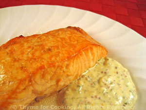 Glazed Salmon with Tarragon Mustard