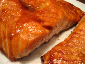 Salmon with Hot and Sweet Glaze