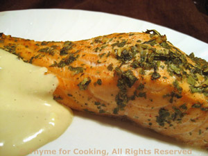 Marinated Salmon with Brown Sugar Yogurt Sauce