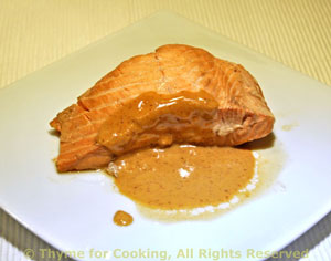 Red-Cooked Salmon with Peanut Sauce
