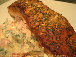 Grilled or Smoked Salmon with Tomato/Tarragon Sauce