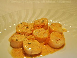 Scallops in White Wine