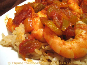 Shrimp Creole over Brown Rice