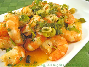 Shrimp in Green Sauce