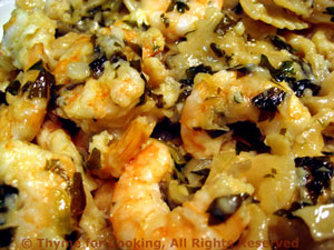 Shrimp  Persillade over Pasta