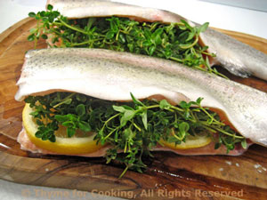 Grilled Trout with Lemon Thyme and Lemon