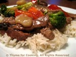 stir-fried beef