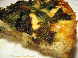 Sliec of Chard and Mushroom Quiche