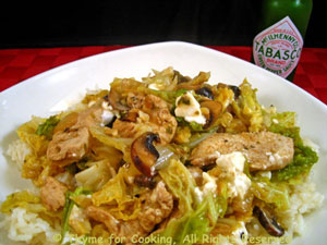 Chicken with Savoy Cabbage and Feta