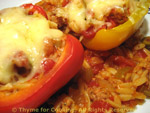 peppers with orzo
