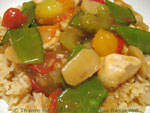stir-fry chicken with mangetout