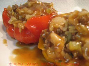 Stuffed Bell Peppers, Oriental Style