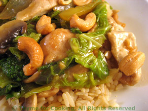 Stir-Fried Turkey with Cabbage and Cashews
