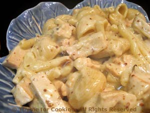 Turkey with Mustard Sauce, Pasta