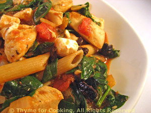 Chicken, Spinach and Feta Pasta