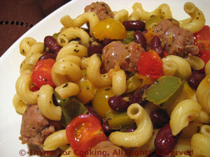 Pasta with Sausages and Cherry Tomatoes