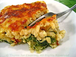 Creamy Barley and Chard Gratin slice