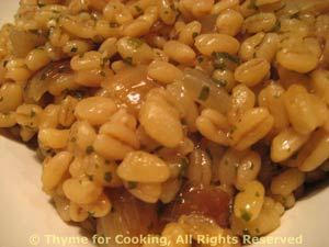 Barley with Shallots