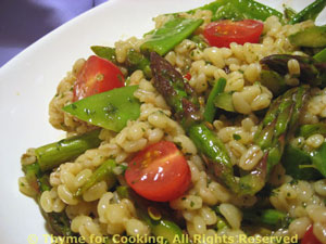 Barley Pilaf with Spring Vegetables