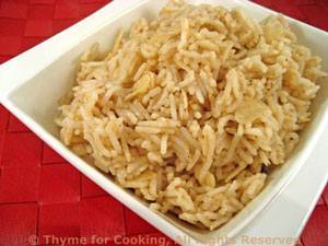 Rice with Almonds and Cumin