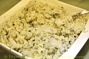 Lemon and Mint Basmati Rice